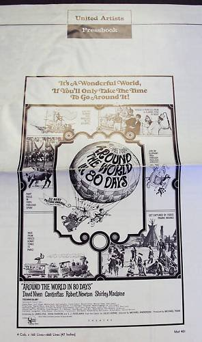 AROUND THE WORLD IN 80 DAYS  Pressbook  Cantinflas 1958