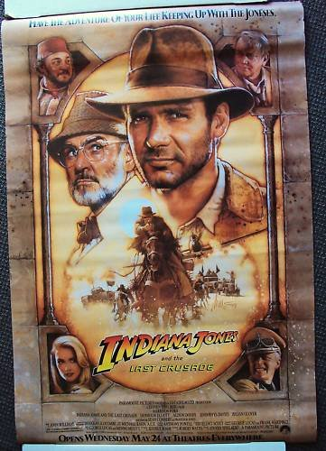 INDIANA JONES and the LAST CRUSADE Poster HARRISON FORD