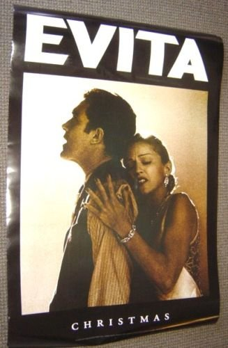 MADONNA Advance EVITA Original Poster ANTONIO BANDERAS