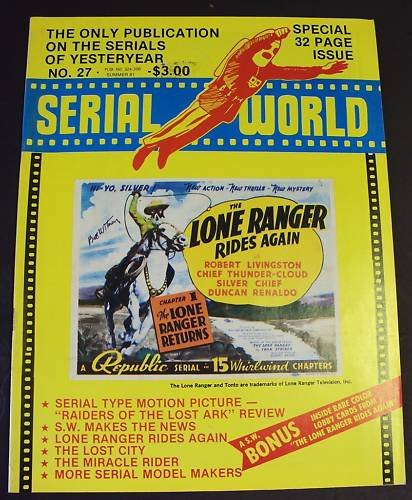 SERIAL  World  MAGAZINE  Lone Ranger Rides  RUSS HAYDEN