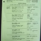 TAMMY GRIMES  show  SHOOTING SCHEDULE Dick Sargent 1966