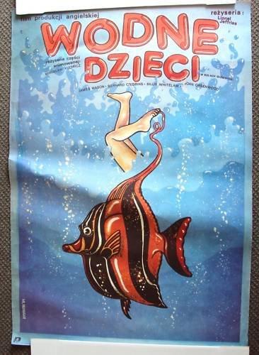 JAMES MASON The WATER BABIES Animated POLISH Poster '78