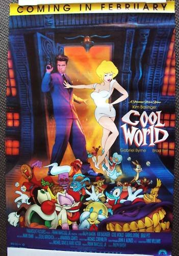 BRAD PITT Kim Basinger COOL WORLD Animated POSTER  1993