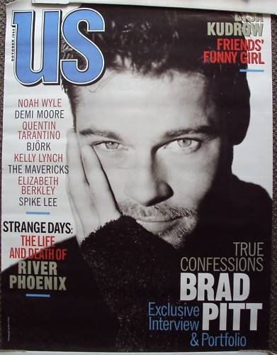 BRAD PITT Promo US ADVERTISING Poster NOT SOLD IN STORE