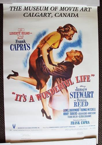 IT'S A WONDERFUL LIFE Orgnl MUSEUM Poster JAMES STEWART