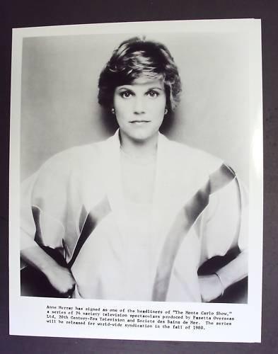 ANNE MURRAY  Original PROMO Portrait PHOTO Monte Carlo