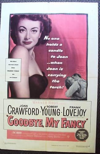 JOAN CRAWFORD Robert Young GOODBYE MY FANCY Poster 1951