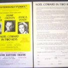 NOEL COWARD In Two Keys FLYER Ann Baxter JESSICA TANDY