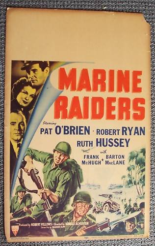 MARINE RAIDERS Original WINDOW CARD Poster U.S. RKO US