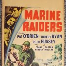 MARINE RAIDERS Original WINDOW CARD Poster U.S. RKO US