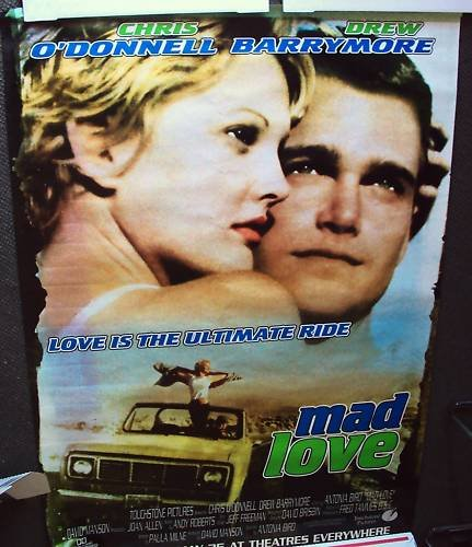 CHRIS O'DONNELL  Drew Barrymore SUBWAY Poster MAD LOVE