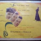 TOMORROW IS FOREVER Poster CLAUDETTE COLBERT Film Noir