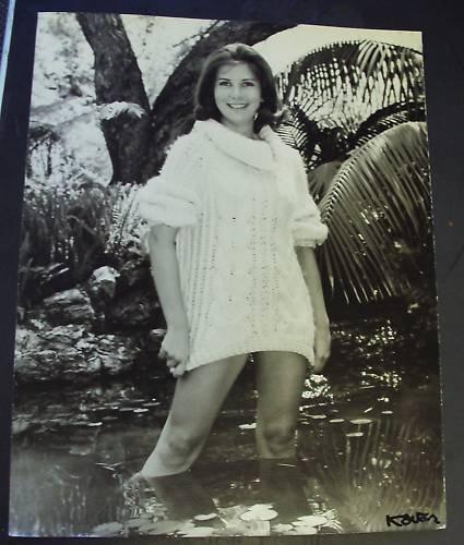 DAVID KOVAR Signed Photograph leggy Woman Hollywood 60s