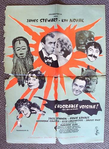 BELL BOOK and CANDLE Poster KIM NOVAK Ernie Kovacs 1958
