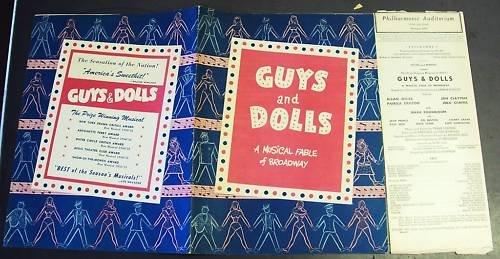 GUYS & DOLLS Broadway Theatre PROGRAM  Maxie Rosenbloom