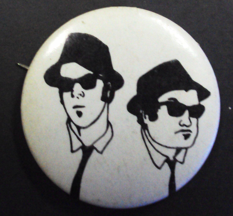 The BLUES BROTHERS Pin JOHN BELUSHI Dan Aykroyd PINBACK