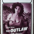 JANE RUSSELL The OUTLAW Original 70's College POSTER