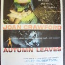 JOAN CRAWFORD Cliff Robertson AUTUMN LEAVES Film POSTER