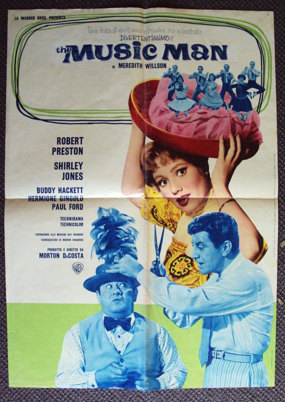 MUSIC MAN Italian MOVIE Poster SHIRLEY JONES Italy 1962
