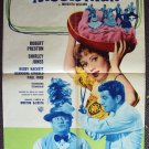 MUSIC MAN Italian MOVIE Poster SHIRLEY JONES Italy 1962