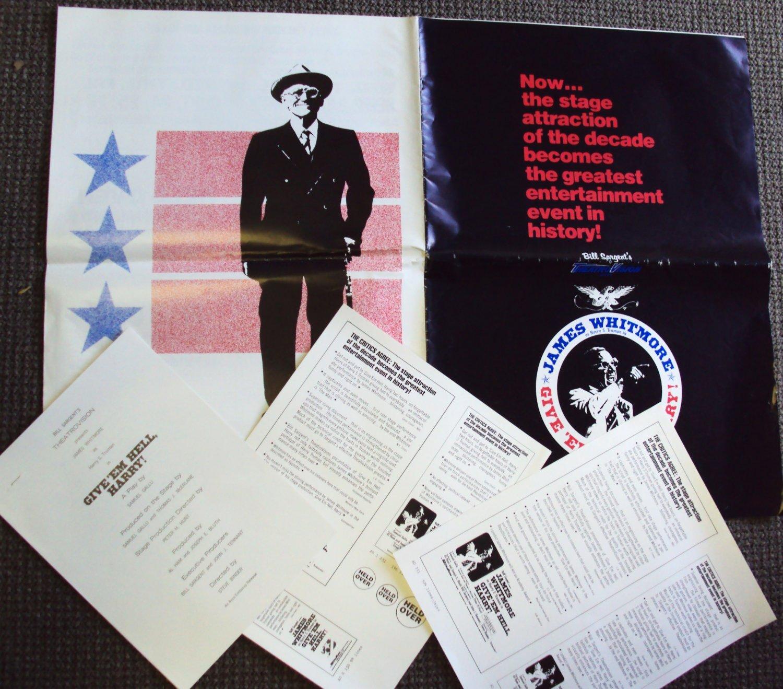 GIVE 'EM HELL, HARRY! Pressbook JAMES WHITMORE Truman