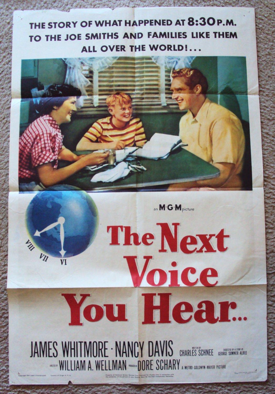 NANCY REGAN James Whitmore NEXT VOICE YOU HEAR Poster