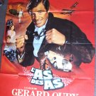 Jean-Paul Belmondo FRENCH Poster HUGE  L'as des as  '82