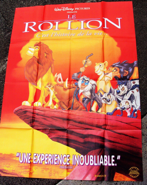 LION KING Original FRENCH DISNEY Film Simba SCAR Poster