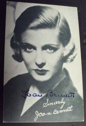 JOAN BENNETT  Original SIGNED n Person AUTOGRAPH  PHOTO