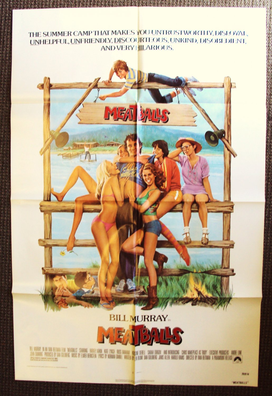 MEATBALLS Original 1-Sheet POSTER Camp '79 BILL MURRAY