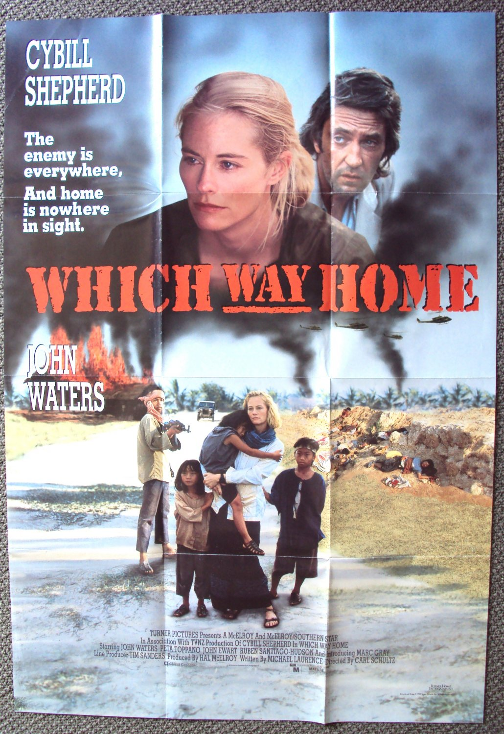CYBILL SHEPHERD Which Way Home TURNER Promo POSTER 1991