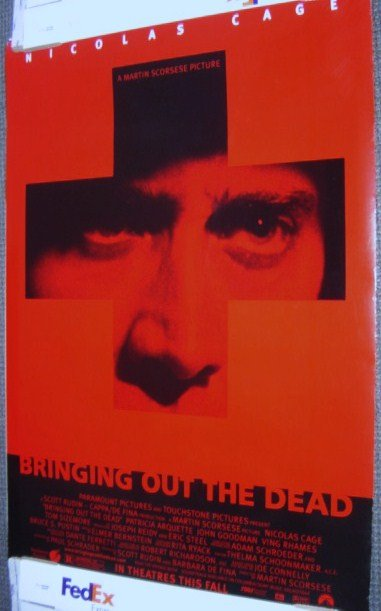 NICHOLAS CAGE  Scorsese BRINGING OUT THE DEAD Poster 99