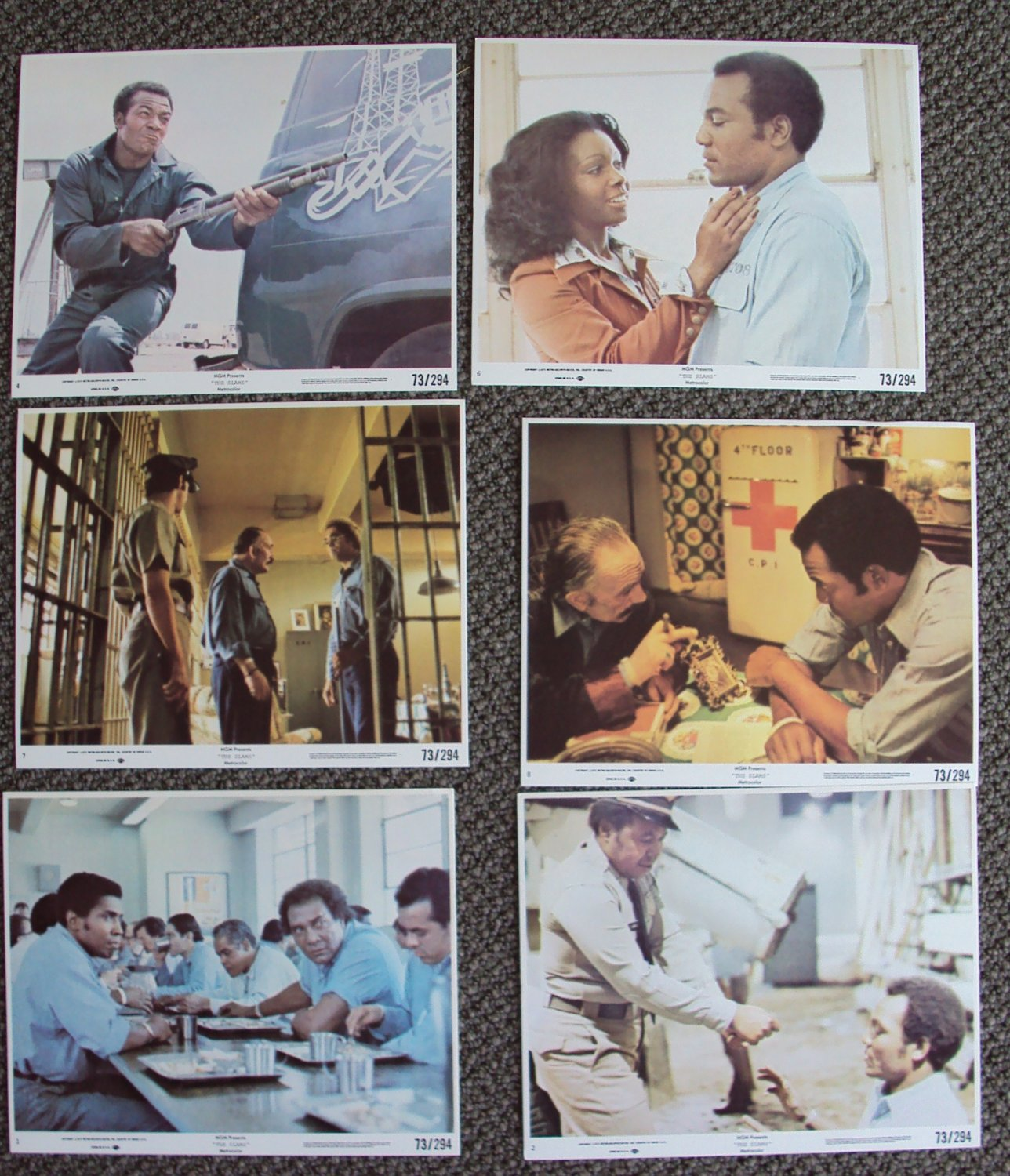 JIM BROWN The SLAMS Blaxploitation Prison LOBBY CARD 's