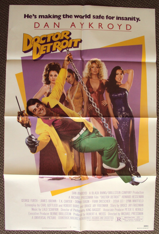 DOCTOR DETROIT Poster DAN AYKROYD Nanny FRAN DRESCHER