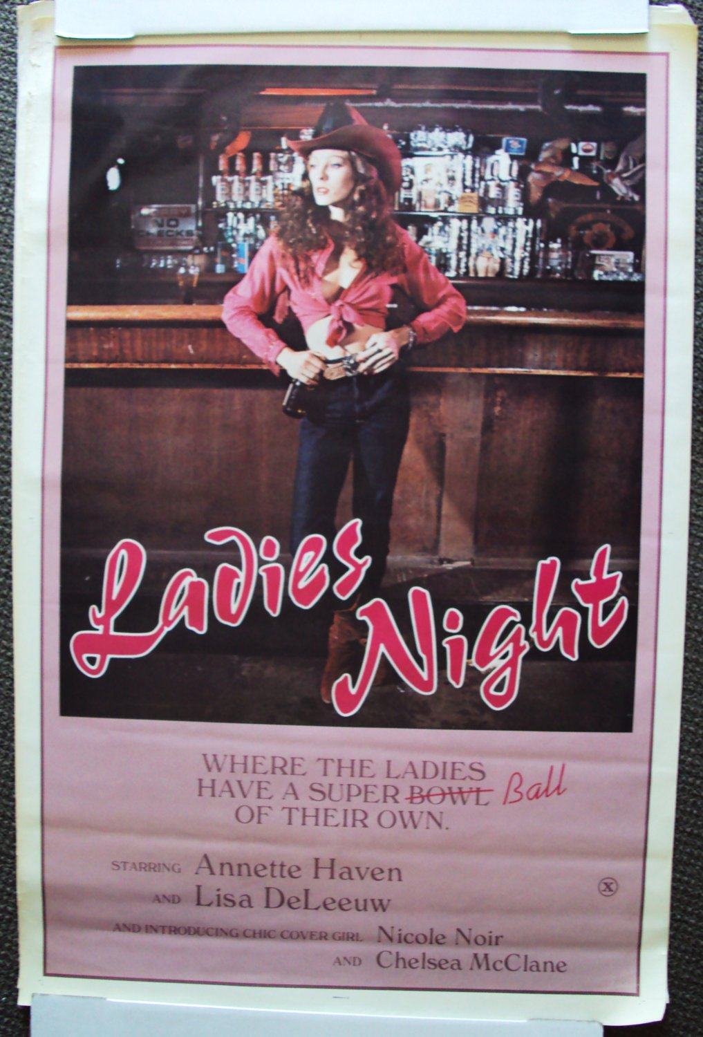 LADIES NIGHT Cowgirl POSTER Erotic ANNETTE HAVEN Sexy