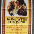 GONE WITH THE WIND Original VINTAGE M.G.M Poster Vivien Leigh CLARK GABLE