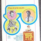 DAVID JANSSEN Las Vegas WHERE IT'S AT Window Card Original POSTER Fugitive Star