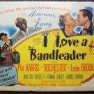 I LOVE A BANDLEADER Leslie Brooks PHIL HARRIS Vintage Movie POSTER 1945 Big Band