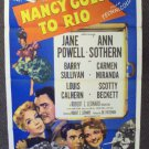 NANCY GOES TO RIO Vintage 1-Sheet Poster CARMEN MIRANDA Jane Powell ANN SOTHERN