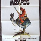 WIZARDS Original SCI-FI Fantasy ANIMATION 1-Sheet MOVIE Poster Star Wars type