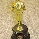 MOVIELAND Wax Museum Gold MOVIE STATUE Award Show STATUE Vintage HOLLYWOOD Land