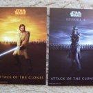 STAR WARS Attack of the Clones POSTCARD Set  NATALIE PORTMAN  Ewan MaGregor