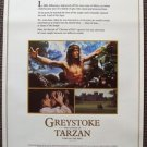 Greystoke Legend TARZAN Lord of the Apes  PROMO Poster CHRISTOPHER LAMBERT