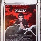 DRACULA Original 70's College mini- POSTER Frank Langella VAMPIRE  Gothic