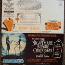 NIGHTMARE BEFORE CHRISTMAS El Capitan INVITATION Jack Skeleton TIM BURTON Sally