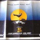 MAN ON A SWING Original 1/2 Sheet Movie Poster CLIFF ROBERTON Joel Grey 1974