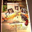 CABOBLANCO Original 1-SHEET Poster CHARLES BRONSON Jason Robards CABO BLANCO '80