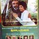 ROBIN AND MARIAN Original PROGRAM Poster AUDREY HEPBURN Sean Connery JAMES BOND