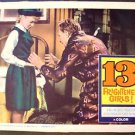 WILLIAM CASTLE Original LOBBY CARD Color 13 FRIGHTENED GIRLS! Thirteen