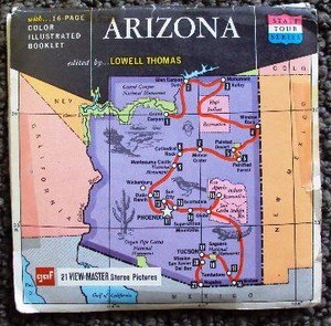 ARIZONA GAF View Maters Pack Stereo Pictures LOWELL THOMAS State Tour  G.A.F.